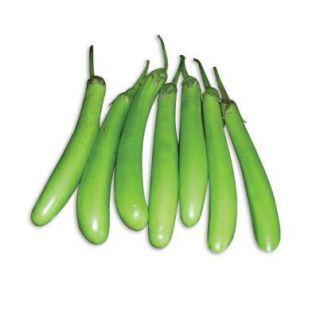 Organic Green Brinjal Long (450 Gms)